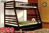 BUNK BEDS – *SOLID WOOD* Twin Over Double (#45229)