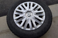 Set of winter tires/steel rims, mats and trunk liner for VW Golf