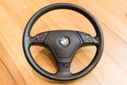BMW E46 sports multi function steering wheel w/ airbag