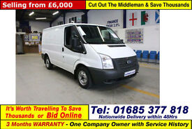2012 - 62 - FORD TRANSIT T280 2.2TDCI 100PS FWD SWB LOW ROOF VAN (GUIDE PRICE)