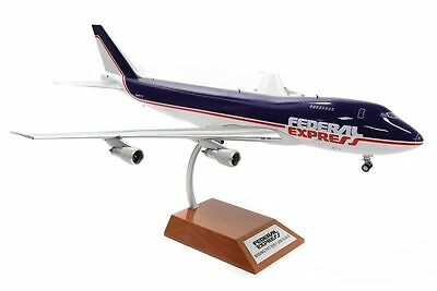 JFOX WB747FEDEX 1/200 BOEING 747F FEDEX N631FE WITH STAND LIMITED EDN 120 PIECES