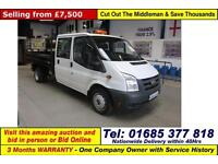 2011 - FORD TRANSIT T350 2.4TDCI 100PS LWB RWD CREW CAB TIPPER (GUIDE PRICE)