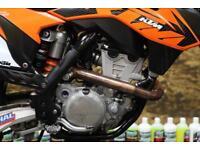 2011 KTM SXF 350 MOTOCROSS BIKE RENTHAL HANDLEBARS, RFX FLEXI LEVER