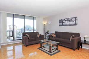 2 bdrm FULLY FURNISHED suite. Yonge Sheppard. Watch VIDEO TOUR !