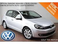 2012 Volkswagen Golf 2.0TDI (140ps) Match-PARK SENSORS-DAB-BLUETOOTH-VWSH-
