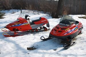 2 Polaris & Trailer For Sale