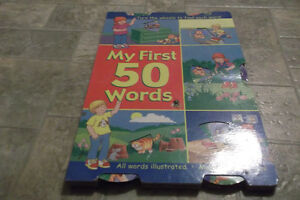 "Children's Board Book ""My 50 First Words"""