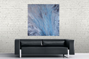 MODERN CONTEMPORARY ACRYLIC PAINTING WITH HIGH GLOSS FINISH