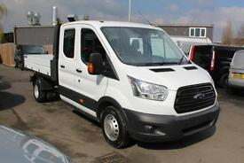 NEW Ford Transit 2.2TDCi 125PS RWD Double Cab 1-Way Tipper 350 L3H1 - Onsite