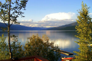 Waterfront/Lakefront Cabin with Spectacular View on Quesnel Lake