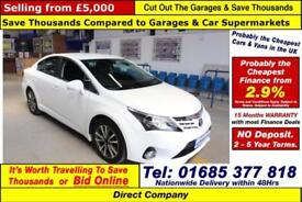 2013 - 63 - TOYOTA AVENSIS ICON 2.2D4-D AUTO 4 DOOR SALOON (GUIDE PRICE)