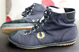Fred Perry High-Top Shoes kicks sneakers Men's 10 US or 9 UK Bla