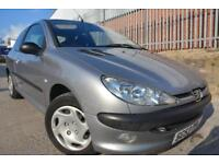PEUGEOT 206 LX 1.1 3 DOOR*FULL 12 MONTHS MOT*IDEAL FIRST CAR*LOW MILEAGE*AIR CON