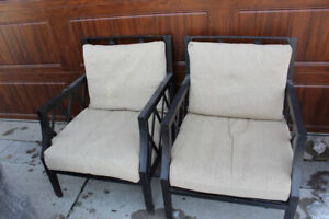 Pair of patio conversation chairs $ 85 for both
