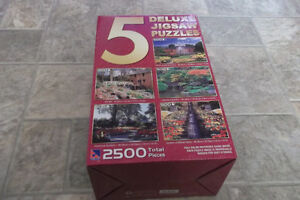 Five Deluxe Jigsaw Puzzles - New in Box