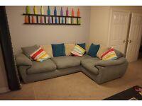 Harvey's corner sofa/settee & matching pouffe