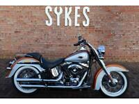 2014 Harley-Davidson FLSTN Softail Deluxe in Amber Whiskey and Silver