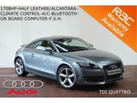 2010 Audi TT Coupe 2.0TDI 170BHP QUATTRO-7 STAMP SERVICE HISTORY-
