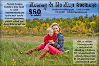 Mommy & Me Mini Photoshoot $80 tax included.
