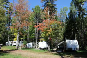 Seasonal sites in a small trailer park