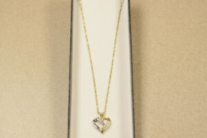 "18"" ladies chain w/ heart pendant(#2404)"