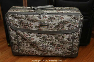 Elegant Fabric Sided Suitcase with wheels