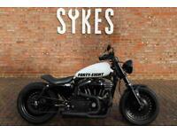 2017 Custom Harley-Davidson XL1200X Sportster Forty-Eight in White 48