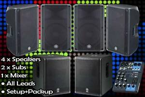 Large Speaker System for Hire $260/night Perth Perth City Area Preview