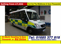 2007 - 57 - MERCEDES SPRINTER 2.2CDI UV MODULAR BODY 10 SEAT DISABLED ACCESS PTS