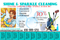 Shine & sparkle cleaning services
