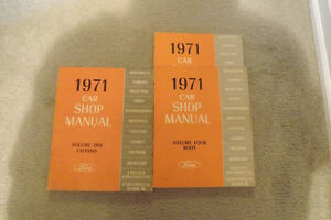 1971 Ford shop Manual set