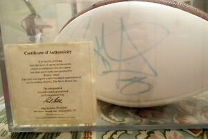 Authentic Wilson football signed by Rocket Ismail