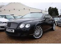 2010 10 BENTLEY CONTINENTAL 6.0 GT SPEED 2D AUTO 601 BHP - RAC DEALER