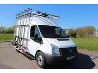 Ford Transit 2.2TDCi 100PS RWD 350 MWB High Roof Glass Frail Diesel Van £9,495