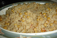 Special chickpea rice available on order