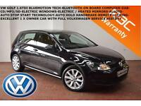 2014 Volkswagen Golf 1.6TDI (105ps) S-BLUETOOTH-DAB-1 X OWNER-FVWSH-SUPERB CAR-