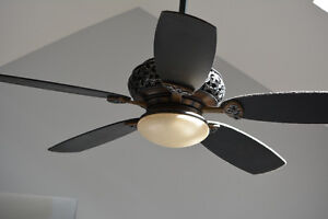 Antique ceiling fan with light