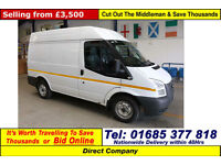 2012 - 12 - FORD TRANSIT T260 2.2TDCI 100PS SWB SEMI HI TOP VAN (GUIDE PRICE)