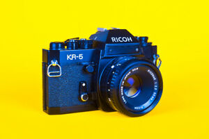 RICOH KR-5 film camera 35 mm and normal lens