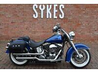 2017 Harley-Davidson FLSTN Softail Deluxe in Superior Blue
