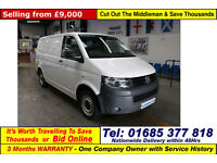 2013 - 13 - VOLKSWAGEN TRANSPORTER T28 2.0TDI 84PS SWB VAN (GUIDE PRICE)