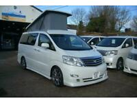 2007 !! TOYOTA ALPHARD CAMPER VAN,MOTORHOME~SIDE KITCHEN~ROOF~~4 BERTH~~2007 !