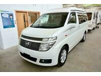 Nissan Elgrand Campervan 2 Berth Campervan with Pop Roof