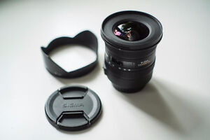 like new sigma EX 10 20 3.5 HSM ultra wide angle for canon