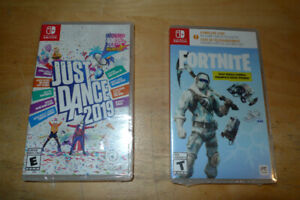 Just dance 2019 and Fortnite Nintendo Switch Games/ NEW SEALED!!