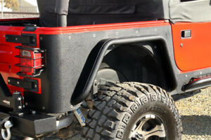 Paramount Rock Crawler Fender Rear Flairs 97-16 Jeep TJ 51-0044