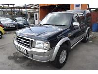 2004/54 Ford Ranger 2.5TDdi Crewcab 4x4 Pickup XLT Double Cab LOW MILES FSH