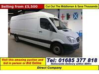 2013 - 13 - MERCEDES SPRINTER 313 2.2CDI LWB HI TOP VAN (GUIDE PRICE)