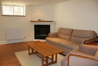 Bright, furnished country-in-the-city, basement apartment