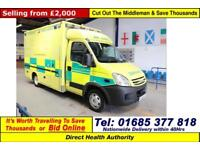 2008 - 58 - IVECO DAILY 50C18 3.0HPI WILKER BODY AMBULANCE (GUIDE PRICE)
